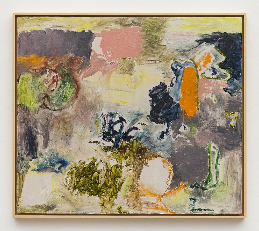 Joaquín Boz. <em>Untitled</em>, 2020. Oil on wood, 17 7/8 x 20 3/8 inches (45.4 x 51.7 cm)