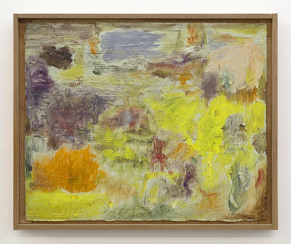 Joaquín Boz. <em>Untitled</em>, 2020. Oil on panel in artist's frame, 13 1/4 x 16 1/8 inches (33.8 x 41 cm)