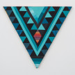 Paolo Arao. <em>Healer</em>, 2020. Sewn cotton, denim, corduroy, canvas and handwoven fibers on shaped wood support, 19 3/4 x 22 inches (50.2 x 55.9 cm) thumbnail