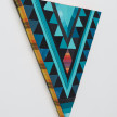 Paolo Arao. <em>Healer</em>, 2020. Sewn cotton, denim, corduroy, canvas and handwoven fibers on shaped wood support, 19 3/4 x 22 inches (50.2 x 55.9 cm) Detail thumbnail