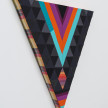 Paolo Arao. <em>Seer</em>, 2020. Sewn cotton, denim, corduroy, canvas and handwoven fibers on shaped wood support, 19 3/4 x 22 inches (50.2 x 55.9 cm) Detail thumbnail