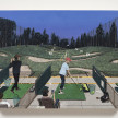 Paige Jiyoung Moon. <em>Sunset Golfing</em>, 2020. Acrylic on panel, 12 x 16 inches (30.5 x 40.6 cm) thumbnail