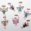Benjamin Cabral. <em>Angel (Memories)</em>, 2021. Rhinestones and faux pearls on acrylic painted wood, Dimensions variable, each work ranges from 14 1/2–18 1/2 inches in height and 8–12 inches in width thumbnail