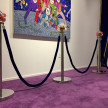 Benjamin Cabral. <em>Guardian (Flowers)</em>, 2020. Rhinestones and epoxy on chrome stanchions with velvet rope, Dimensions variable, each stanchion is 40 x 13 x 13 inches (101.6 x 33 x 33 cm) thumbnail