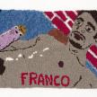 Hannah Epstein. <em>James Franco, Cumedy Genius</em>, 2020. Wool, acrylic, polyester, cotton and burlap, 20 x 33 inches (50.8 x 83.8 cm) thumbnail