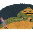 Hannah Epstein. <em>Jabba</em>, 2020. Wool, acrylic, polyester, cotton and burlap, 19 x 35 1/2 inches (48.3 x 90.2 cm) thumbnail