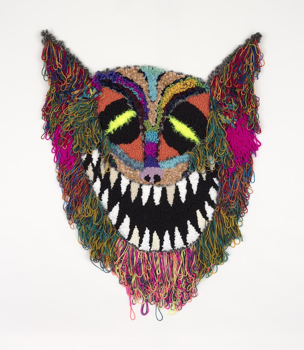Hannah Epstein. <em>Bat Boy II</em>, 2020. Wool, acrylic, polyester, cotton and burlap, 48 x 38 inches (121.9 x 96.5 cm)