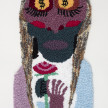 Hannah Epstein. <em>Death Rites (Eyes on the Prize)</em>, 2020. Wool, acrylic, cotton and burlap, 33 x 17 inches (83.8 x 43.2 cm) thumbnail