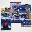 Hannah Epstein. <em>Unbridled</em>, 2020. Wool, acrylic, polyester, cotton and burlap, 108 x 113 inches (274.3 x 287 cm) thumbnail