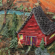 Kate Klingbeil. <em>Saturn Returned</em>, 2020. Acrylic, pigment, watercolor, vinyl paint, pumice, sand, crushed garnet, cast brass and oil stick on canvas, 40 1/4 x 50 1/4 x 2 1/2 inches (102.2 x 127.6 x 6.4 cm) Detail thumbnail