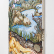 Kate Klingbeil. <em>The Grown Woman</em>, 2020. Acrylic, pigment, watercolor, vinyl paint, pumice, sand, crushed garnet and oil stick on canvas, 48 1/2 x 60 1/2 x 2 1/2 inches (123.2 x 153.7 x 6.4 cm) Detail thumbnail