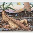 Kate Klingbeil. <em>Grown Together</em>, 2020. Acrylic, pigment, watercolor, vinyl paint, pumice, sand, crushed garnet and oil stick on canvas, 28 1/4 x 34 1/2 x 2 inches (71.8 x 87.6 x 5.1 cm) thumbnail