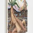 Kate Klingbeil. <em>Grown Together</em>, 2020. Acrylic, pigment, watercolor, vinyl paint, pumice, sand, crushed garnet and oil stick on canvas, 28 1/4 x 34 1/2 x 2 inches (71.8 x 87.6 x 5.1 cm) Detail thumbnail