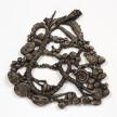 Kate Klingbeil. <em>Twisted Root</em>, 2020. Cast brass, 9 1/4 x 9 1/2 x 3/4 inches (23.5 x 24.1 x 86.4 cm) thumbnail