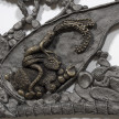 Kate Klingbeil. <em>Show Me Your Garden And I Shall See What You Are</em>, 2020. Cast iron and brass, 38 x 53 x 1 inches (96.5 x 134.6 x 2.5 cm) Detail thumbnail