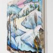 Kate Klingbeil. <em>Milk Run</em>, 2020. Acrylic, vinyl, pumice, sand, crushed garnet, watercolor and oil stick on canvas, 30 1/4 x 40 1/4 x 1 1/2 inches (76.8 x 102.2 x 3.8 cm) Detail thumbnail