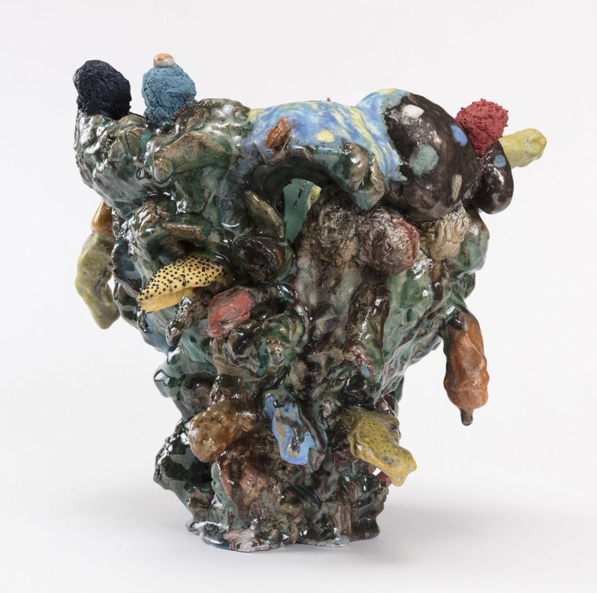 Kazuhito Kawai. <em>Happy Together</em>, 2020. Glazed ceramic, 12 1/4 x 13 x 13 inches (31 x 33 x 33 cm)