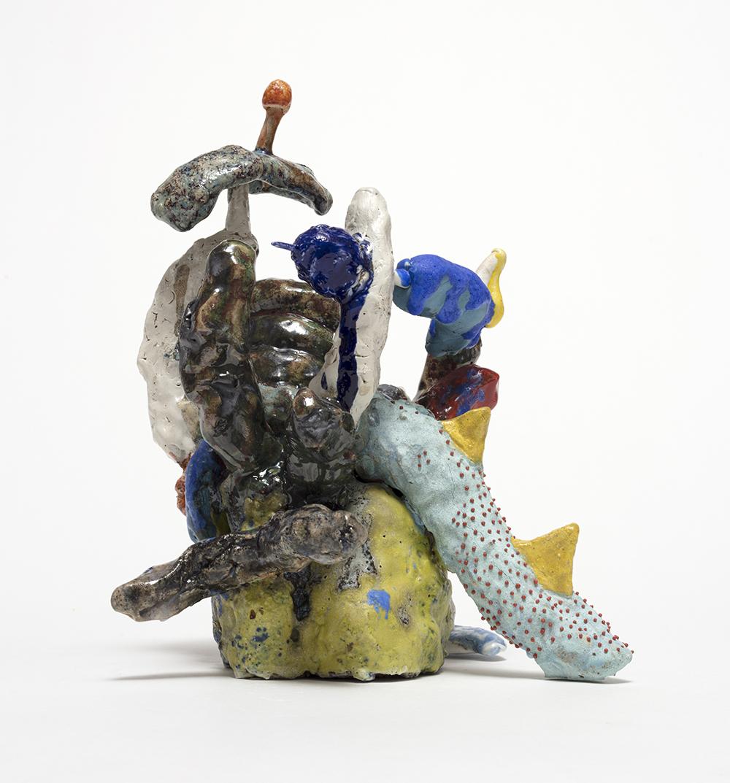 Kazuhito Kawai. <em>Imogashira Hospital</em>, 2020. Glazed ceramic, 10 5/8 x 8 5/8 x 8 5/8 inches (27 x 22 x 22 cm)