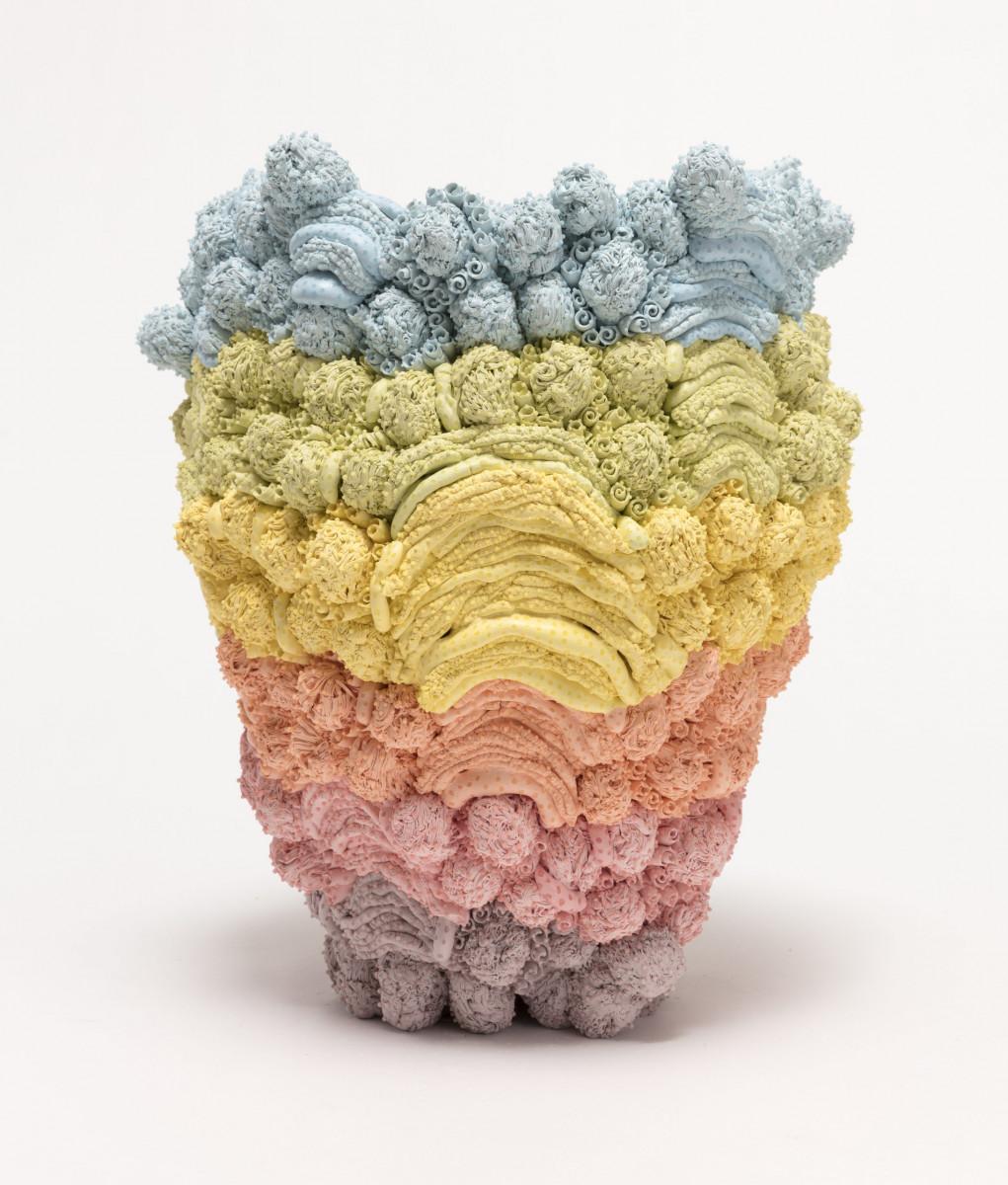Kazuhito Kawai. <em>Dynamite</em>, 2021. Glazed ceramic, 13 x 10 1/4 x 10 1/4 inches (33 x 26 x 26 cm) Detail