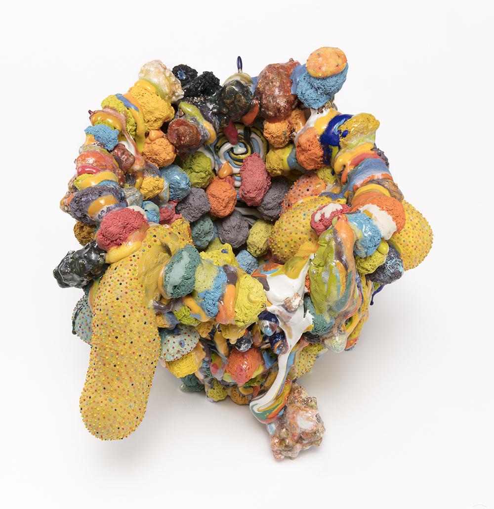 Kazuhito Kawai. <em>Forever 21</em>, 2021. Glazed ceramic, 13 1/4 x 15 x 15 inches (33.5 x 38 x 38 cm) Detail