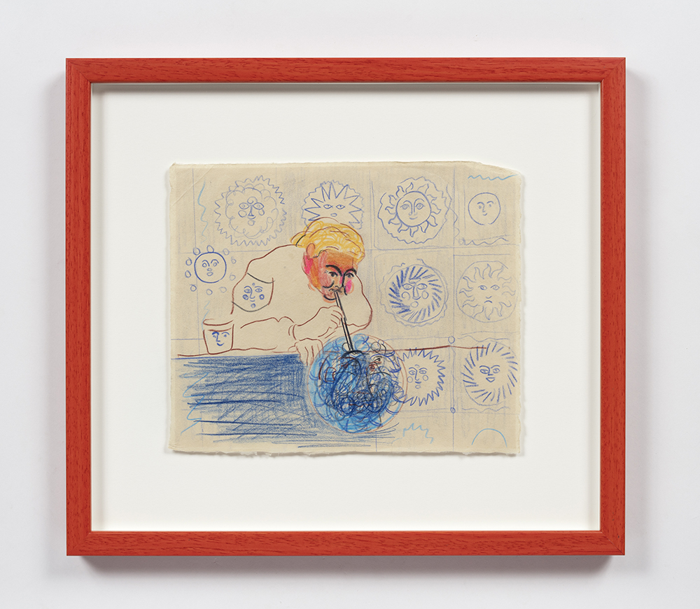 Kevin McNamee-Tweed. <em>Blowing Bibbles of Sibbles</em>, 2020. Pencil on mulberry paper, 8 3/4 x 10 1/2 inches (22.2 x 26.7 cm), 14 3/4 x 16 1/2 inches (37.5 x 41.9 cm) Framed