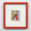 Kevin McNamee-Tweed. <em>Long Red Haired Woodpecker</em>, 2020. Pencil on mulberry paper, 4 1/4 x 3 1/2 inches (10.8 x 8.9 cm), 10 1/2 x 9 1/4 inches (26.7 x 23.5 cm) Framed thumbnail
