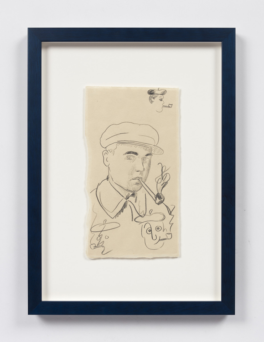 Kevin McNamee-Tweed. <em>Artist Portrait</em>, 2020. Graphite on mulberry paper, 9 1/8 x 5 inches (23.2 x 12.7 cm), 15 1/2 x 11 1/4 inches (39.4 x 28.6 cm) Framed