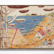 Kevin McNamee-Tweed. <em>Painter, Boats</em>, 2020. Acrylic and pencil on cotton with artist frame, 19 x 24 3/4 inches (48.3 x 62.9 cm) thumbnail