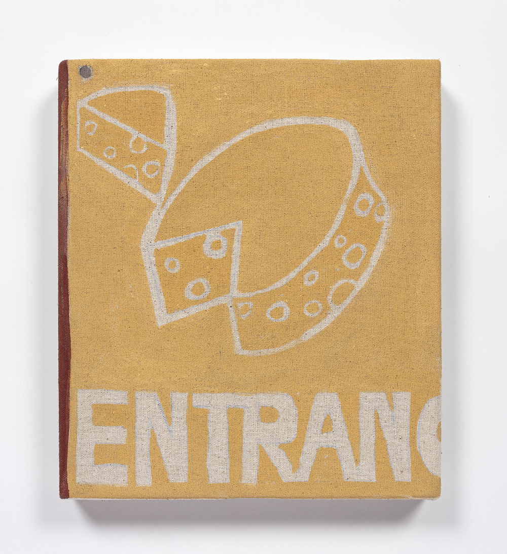 Kevin McNamee-Tweed. <em>Entrance</em>, 2020. Acrylic and pencil on canvas on wood, 10 x 9 inches (25.4 x 22.9 cm)