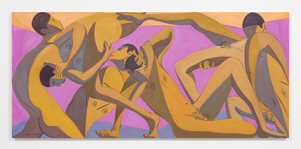 Mark Yang. <em>Spring</em>, 2020. Oil on canvas, 52 x 120 inches (132.1 x 304.8 cm)