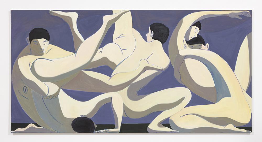 Mark Yang. <em>Fall</em>, 2020. Oil on canvas, 62 x 120 inches (157.5 x 304.8 cm)