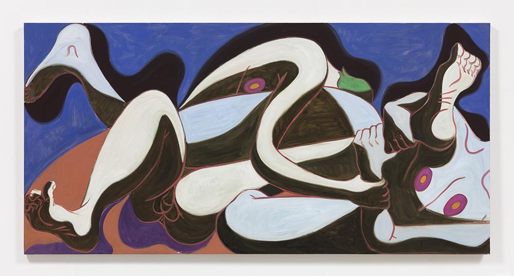 Mark Yang. <em>Interchange</em>, 2020. Oil on canvas, 40 x 80 inches (101.6 x 203.2 cm)