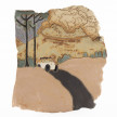 Kevin McNamee-Tweed. <em>Artist and a Few Animals in a Car Near Active Volcano</em>, 2021. Glazed ceramic 11 1/4 x 10 inches (28.6 x 25.4 cm) thumbnail