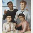 Pablo Barba. Company Men, 2021. Oil on linen, 36 x 30 inches (91.4 x 76.2 cm) thumbnail