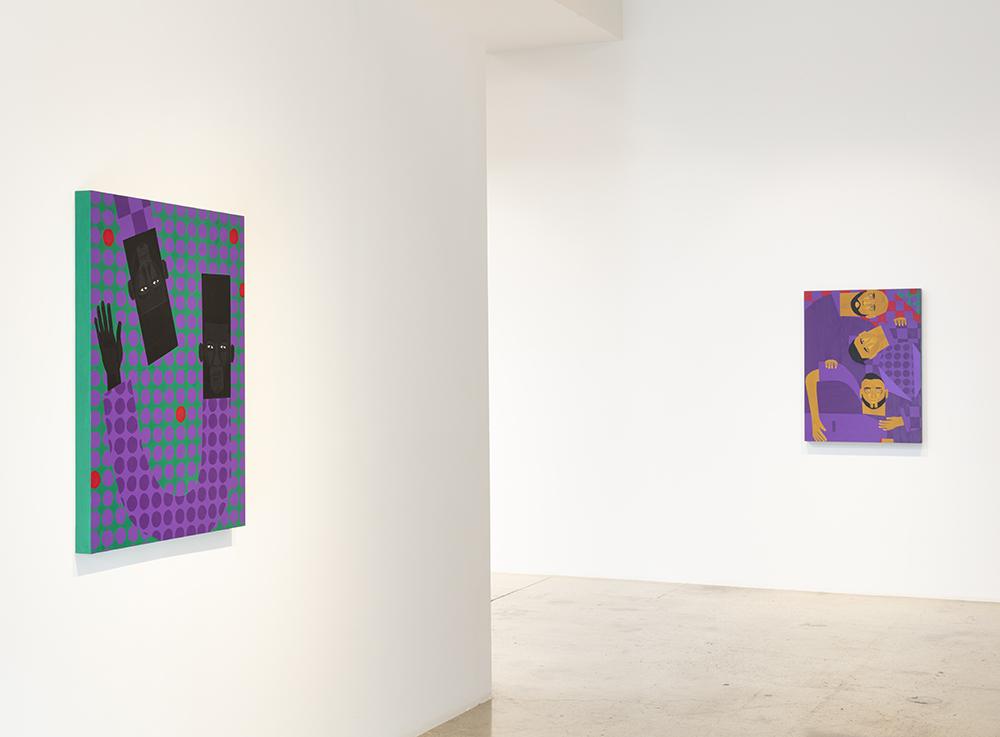 <em>Lean On Me</em>. Installation view, Steve Turner, 2021