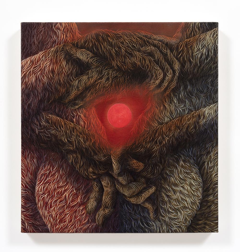 Drew Dodge. <em>Pantheon</em>, 2021. Oil on canvas, 17 x 16 inches (43.2 x 40.6 cm)