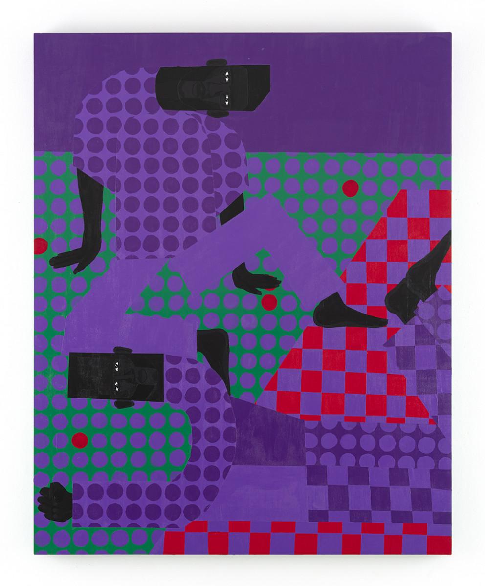Jon Key. <em>Jon and Andy (Chosen Family No. 9)</em>, 2021. Acrylic on panel, 60 x 48 inches (152.4 x 121.9 cm)