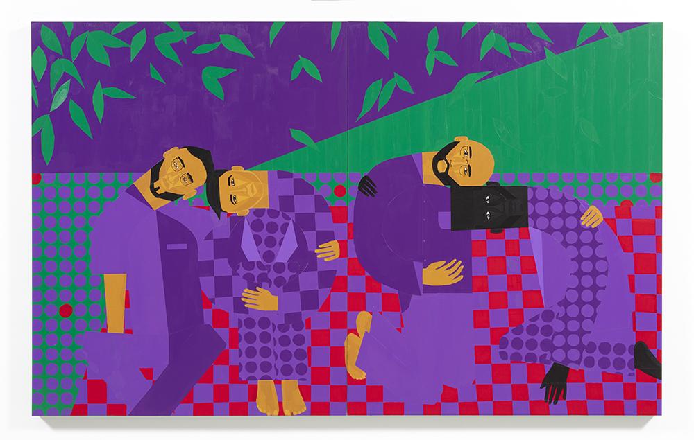Jon Key. <em>Chosen Family No. 13</em>, 2021. Acrylic on panel, 72 x 96 inches (182.9 x 243.8 cm)