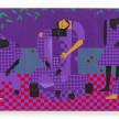Jon Key. <em>Chosen Family No. 14</em>, 2021. Acrylic on panel, 72 x 144 inches (182.9 x 365.8 cm) thumbnail