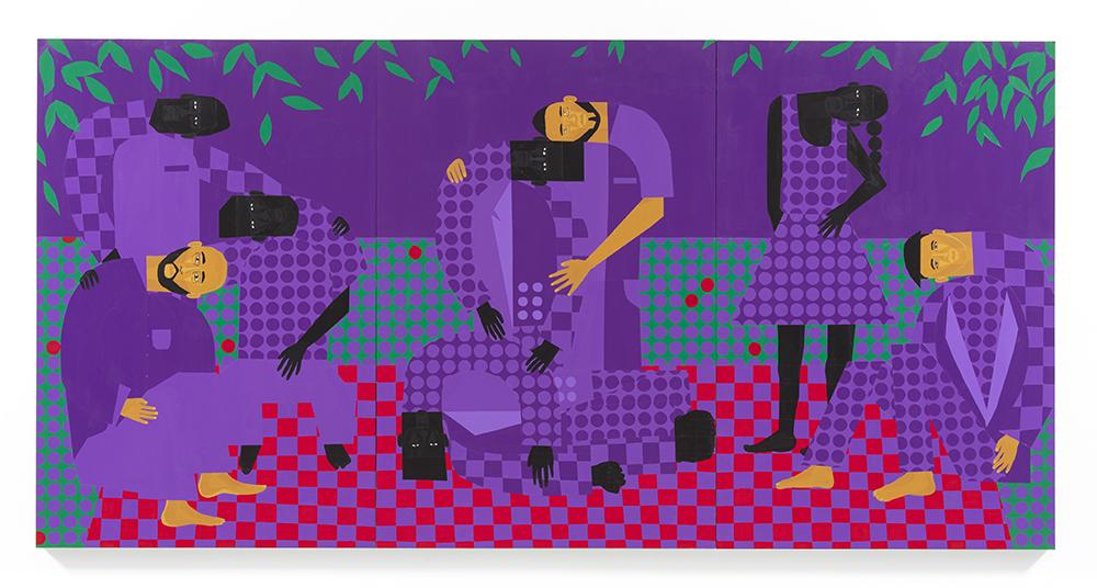 Jon Key. <em>Chosen Family No. 14</em>, 2021. Acrylic on panel, 72 x 144 inches (182.9 x 365.8 cm)