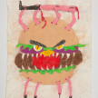Camilo Restrepo. <em>Chatarra</em>, 2021. Water-soluble wax pastel, ink, tape and saliva on paper 11 3/4 x 8 1/4 inches (29.8 x 21 cm) thumbnail