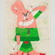 Camilo Restrepo. <em>Richard</em>, 2021. Water-soluble wax pastel, ink, tape and saliva on paper 11 3/4 x 8 1/4 inches (29.8 x 21 cm) thumbnail
