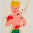 Camilo Restrepo. <em>Ivàn Màrquez</em>, 2021. Water-soluble wax pastel, ink, tape and saliva on paper 11 3/4 x 8 1/4 inches (29.8 x 21 cm) thumbnail