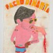 Camilo Restrepo. <em>Pacho</em>, 2021. Water-soluble wax pastel, ink, tape and saliva on paper 11 3/4 x 8 1/4 inches (29.8 x 21 cm) thumbnail