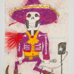 Camilo Restrepo. <em>Charro Negro</em>, 2021. Water-soluble wax pastel, ink, tape and saliva on paper 11 3/4 x 8 1/4 inches (29.8 x 21 cm) thumbnail