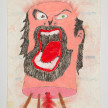 Camilo Restrepo. <em>Darìo</em>, 2021. Water-soluble wax pastel, ink, tape and saliva on paper 11 3/4 x 8 1/4 inches (29.8 x 21 cm) thumbnail