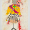 Camilo Restrepo. <em>Zar</em>, 2021. Water-soluble wax pastel, ink, tape and saliva on paper 11 3/4 x 8 1/4 inches (29.8 x 21 cm) thumbnail