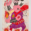 Camilo Restrepo. <em>Marihuano</em>, 2021. Water-soluble wax pastel, ink, tape and saliva on paper 11 3/4 x 8 1/4 inches (29.8 x 21 cm) thumbnail