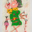 Camilo Restrepo. <em>Fabiàn</em>, 2021. Water-soluble wax pastel, ink, tape and saliva on paper 11 3/4 x 8 1/4 inches (29.8 x 21 cm) thumbnail