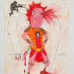 Camilo Restrepo. <em>Uriel</em>, 2021. Water-soluble wax pastel, ink, tape and saliva on paper 11 3/4 x 8 1/4 inches (29.8 x 21 cm) thumbnail
